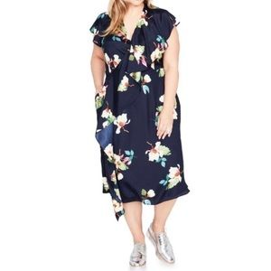 Rachel Roy On-trend wrapped Floral Dress B2